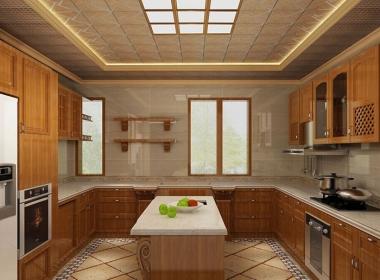 美式风格厨房装饰效果